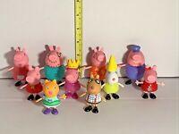 Peppa  Pig Characters Figures Miniature Play Dolls Lot  10 PCS