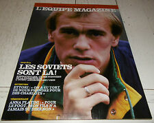 EQUIPE MAGAZINE N°385 1988 FOOTBALL J-L. ETTORI MONACO DIVERT CAEN KHIDIATOULINE