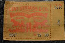 Classic men's Levi's 501 black red tab straight leg denim jeans W32 L30