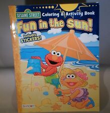 SESAME STREET  Coloring & Activity Book Fun In The Sun                   TC4-2