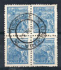 BRAZIL = 1952 `GALERIA / BRASIL` Double Ring. 1cr.20 Block/4. SG761
