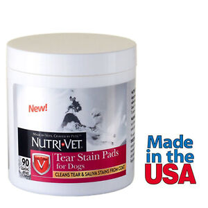 Dog Eye Wipes Tear Stain Remover Pads 90 Count Cleans Tear and Saliva Stains