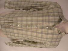 John Varvatos Mens Beige Plaid Long Sleeve Sheer Cotton Shirt XL