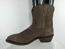 Frye Womens Billy Short Washed Oiled Smoke Brown Leather Cowboy Boots 8 B