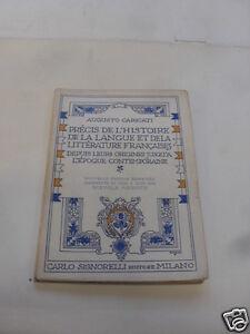PRECIS DE L'HISTOIRE DE LA LANGUE ET LITTERATURE FRANCAISES - 1960