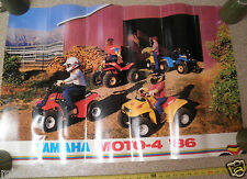 "1986 Yamaha Moto-4 Quads ATV advertising poster 24x36"" vintage thick farming"