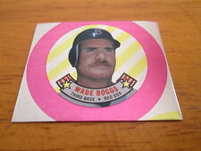 1988 Topps Coin WRONG BACK ERROR TEST PROOF Wade Boggs Red Sox - Eric Davis Reds