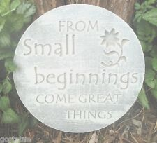 From small beginnings plastic mold concrete inspirational plaster mould