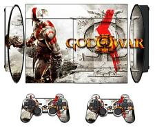 GOW 210 Skin Sticker for PS3 PlayStation 3 Super Slim and 2 controller skins