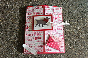 Stampin Up Happy Valentines Day Sending Love  Dog Love Note
