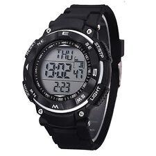 2015 New Black Waterproof Sport Watch MENS LED Quartz Alarm Date Wrist Watches