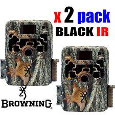 2 x Browning Dark Ops HD PRO 18MP HD Vid Black IR Trail Hunting Camera