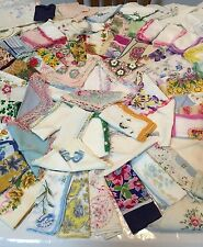 Vintage Lot( 230) Women'S Handkerchiefs Hankies Floral Embroidered Lace Estate