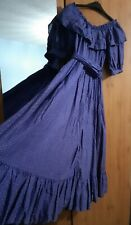 Laura Ashley Vintage Tiered Prairie Dress With Sash Belt Size 12 Made in Wales