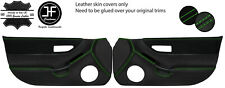 GREEN STITCH 2X FULL DOOR CARD LEATHER&SUEDE COVERS FOR HONDA CRX DEL SOL 92-97