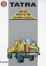 Prospekt Tatra 28.235 AKD AKH 6x6 deutsch LKWs truck brochure Nutzfahrzeug