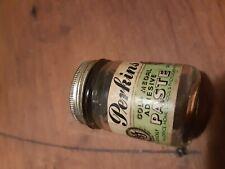 PERKINS PASTE AUSTRALIA VINTAGE EARLY GLASS TIN TOP/REFILL JAR