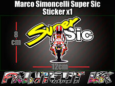 Marco Simoncelli Super Sic Decal Sticker Moto Scooter Casco Bicicleta Auto 58 Para Laptop