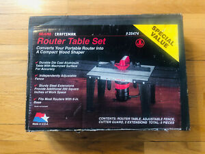Sears Craftsman Router Table Set #925474 NEW SEALED IN BOX MADE IN USA