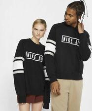 Nike MEN'S Nike Air Fleece Crew Grey Black White SIZE LARGE BRAND NEW RARE