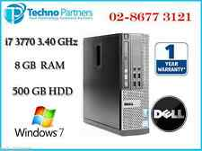 Dell Optiplex 9010 SFF Computer 3rd i7 3770 3.40G 8G 500G Win 7 Pro 1Yr Warranty
