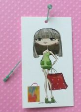 100 Clothing Tags Accessories Tags Shopping Girl Hang Tag W 100 Self-Lock Loops