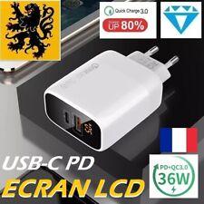 Chargeur Secteur Rapide USB 5V 11-38W Adaptateur iPhone Samsung QC3.0 PD3.0 USBC
