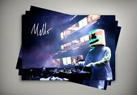 DJ Marshmello Live Onstage Autographed Poster Print. A3 A2 A1 Sizes