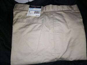 French Toast Boys size 16 Khaki Flat Front Uniform Shorts NWT Adjustable Waist
