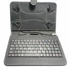 """funda soporte cuero sintético con Construir en teclado USB para 7"""" 8"""" 21.1cm"""