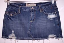Hollister Denim Skirt 5 Sexy Micro Mini Distressed Holes Jeans Junior's 5 BTS