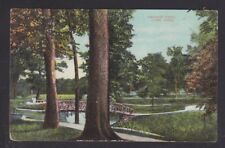 USA 1908 VIEW OF FAUROT PARK IN LIMA OHIO POSTCARD TO FREMONT INDIANA