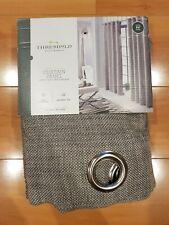NEW Threshold Gray Textured Weave Light Filtering Window Curtain 54x84