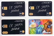 4 TELECARTE / PHONE CARD .. FRANCE 50U PACK MUSIQUE MUSIC RADIO MIX  PUCE C.13€