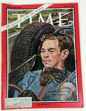"Champion Driver Jim Clark. ""The quickest man on wheels."" Time Magazine 6 9,1965"