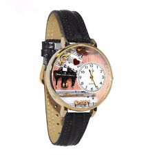 Teacher Black Leather Watch Whimsical Watches Unisex G0610001 Music