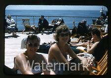 1950s  Photo slide Swedish Ship MS Gripsholm Ladies bathing suits swimsuit #3