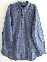 Polo Ralph Lauren Big Tall Mens 2XB Blue Black Plaid Button-Front Shirt NWT 2XB