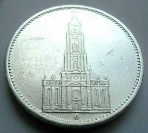 (668)WWII  German 3rd Reich  1934 G   5 Reichsmark Silver Coin