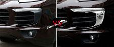 Metal Front Mesh Grille Molding Cover Trim 2pcs For Porsche Cayenne 2015-2016