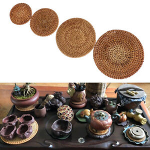 Kitchen Placemats Insulation Cup Mats Bowl Pad Rattan Coasters Table Padding