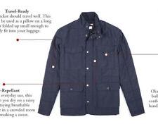 New Apolis Global Medium Navy Blue Indigo Chore Coat Quilted Tavel Jacket Blazer
