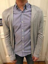 H&M Cardigan Pullover Strickjacke Strick Jacke Gr. M grau 80% Baumwolle wie NEU