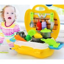Kit de Cuisine Fruits Vegtable Semblant Playset Jouet Cadeau Enfants -Jaune