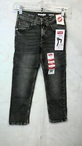 Wrangler Slim Fit Jeans w/ Adjust to Fit Waist (Boy's Size 8 Slim)