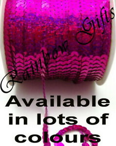 6mm SEQUIN TRIM SOLD BY THE METRE HOLOGRAPHIC METALLIC ROUND STRING SEQUINS