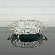 """Serving tray with handles mirror, Turkish, gold silver metal Handmade round 10"""""""