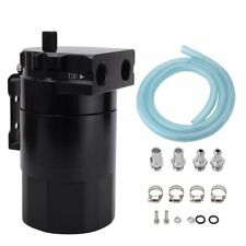 300ML Engine Oil Catch Can Reservoir Tank Cylinder Baffled Aluminum with Adapter