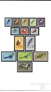 Uganda 1965 Birds set MNH