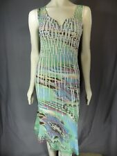 KOMAROV Printed V-Neck Sleeveless Knee length Dress Women's Size S